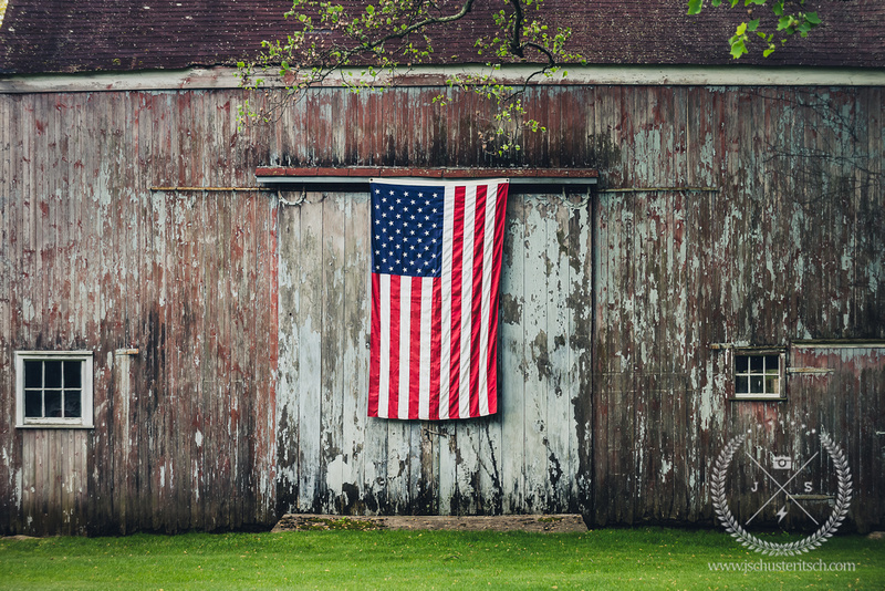 Historical Barn on memorial Day